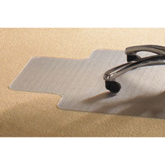 Mammoth Office Products PVC Chair Mat for Standard Pile Carpet, 36 x 48, 20 x 12 Lip, Clear