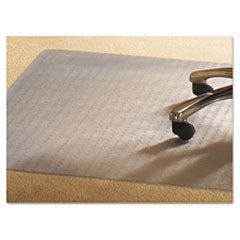Mammoth Office Products PVC Chair Mat for Standard Pile Carpet, 46 x 60, No Lip, Clear