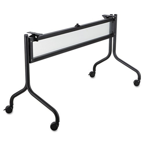 Safco Impromptu Series Mobile Training Table Base, 49-1/2w x 24d x 28h, Black, SAF 2031BL