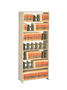 Snap-Together Steel Six-Shelf Closed Starter Set, 36w x 12d x 88h, Sand TNN 1276PCSD