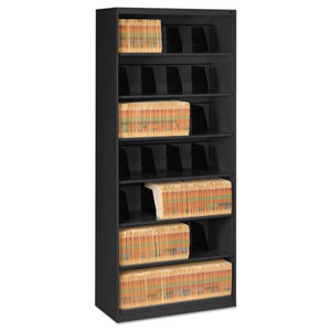 Open Fixed Shelf Lateral File, 36w x 16 1/2d x 87h, Black TNN FS370BL