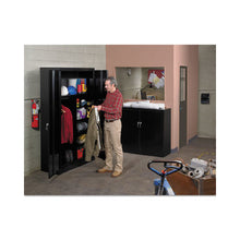 Load image into Gallery viewer, Tennsco Assembled Jumbo Steel Storage Cabinet- DENTED-  48w x 24d x 78h, Black