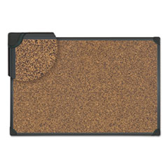 Universal® Tech Cork Board, 48 x 36, Cork, Black Frame