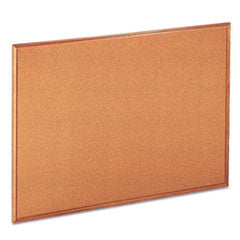 Universal® Cork Board with Oak Style Frame, 48 x 36, Natural, Oak-Finished Frame