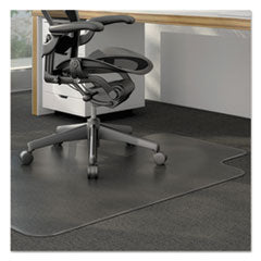 Universal® Cleated Chair Mat for Low and Medium Pile Carpet, 36 x 48, Clear