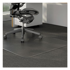 Universal® Studded Chair Mat for Low Pile Carpet, 46 x 60, Clear
