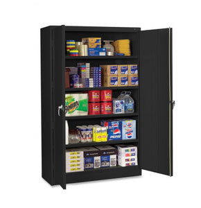 "Tennsco Jumbo 78"" Steel Storage Cabinet with 4 Shelves, Black"