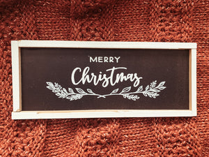 """Merry Christmas"" Black Framed Sign"