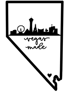 """Vegas Made"" Nevada/Strip skyline vinyl decal"