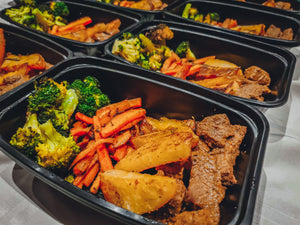 seared sirloin beef with oven roasted vegetables - my-fit-meals