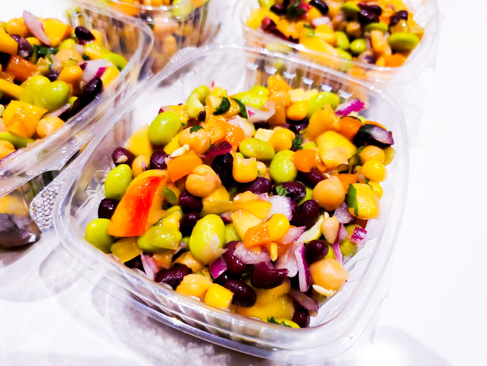 mango tango vegan salad - my-fit-meals