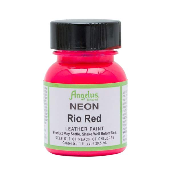 ANGELUS Leather Paint 1oz - Neon Rio Red