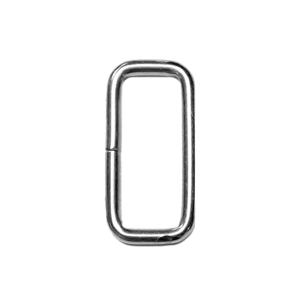 "1.25"" Nickle Rectangle Ring"