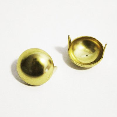 "3/8"" Gold Dome Studs (50-pack)"