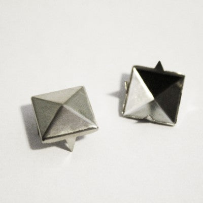"3/8"" Silver Pyramid Studs (50-pack)"
