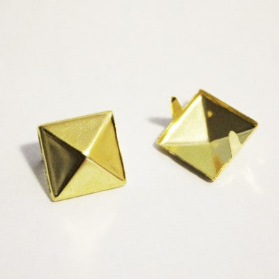 "3/8"" Gold Pyramid Studs (50-pack)"