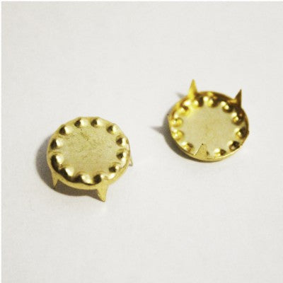 "3/8"" Gold Decorative Circle Studs (50-pack)"