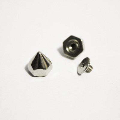 "3/8"" Silver Hex Cone Spike (10-pack)"