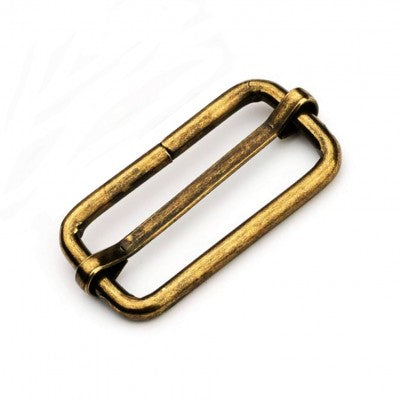 Antique Brass Sliding Bar Tri-Glide