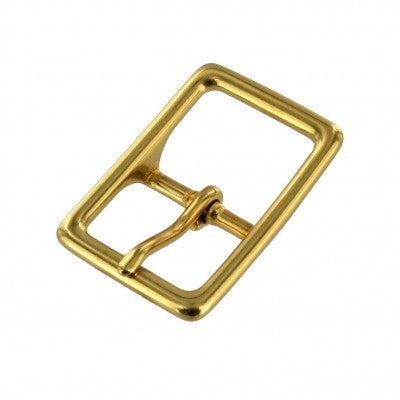 Solid Brass Center Bar Buckle
