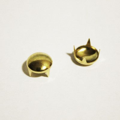 "1/4"" Small Gold Dome Studs (100-pack)"