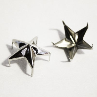 "3/8"" Silver Decorative Star Studs (50-pack)"