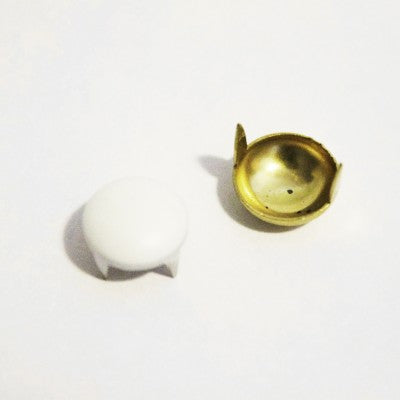 "3/8"" White Dome Studs (50-pack)"