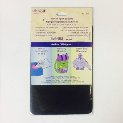 UNIQUE Nylon Iron-on Patches (2-pack)
