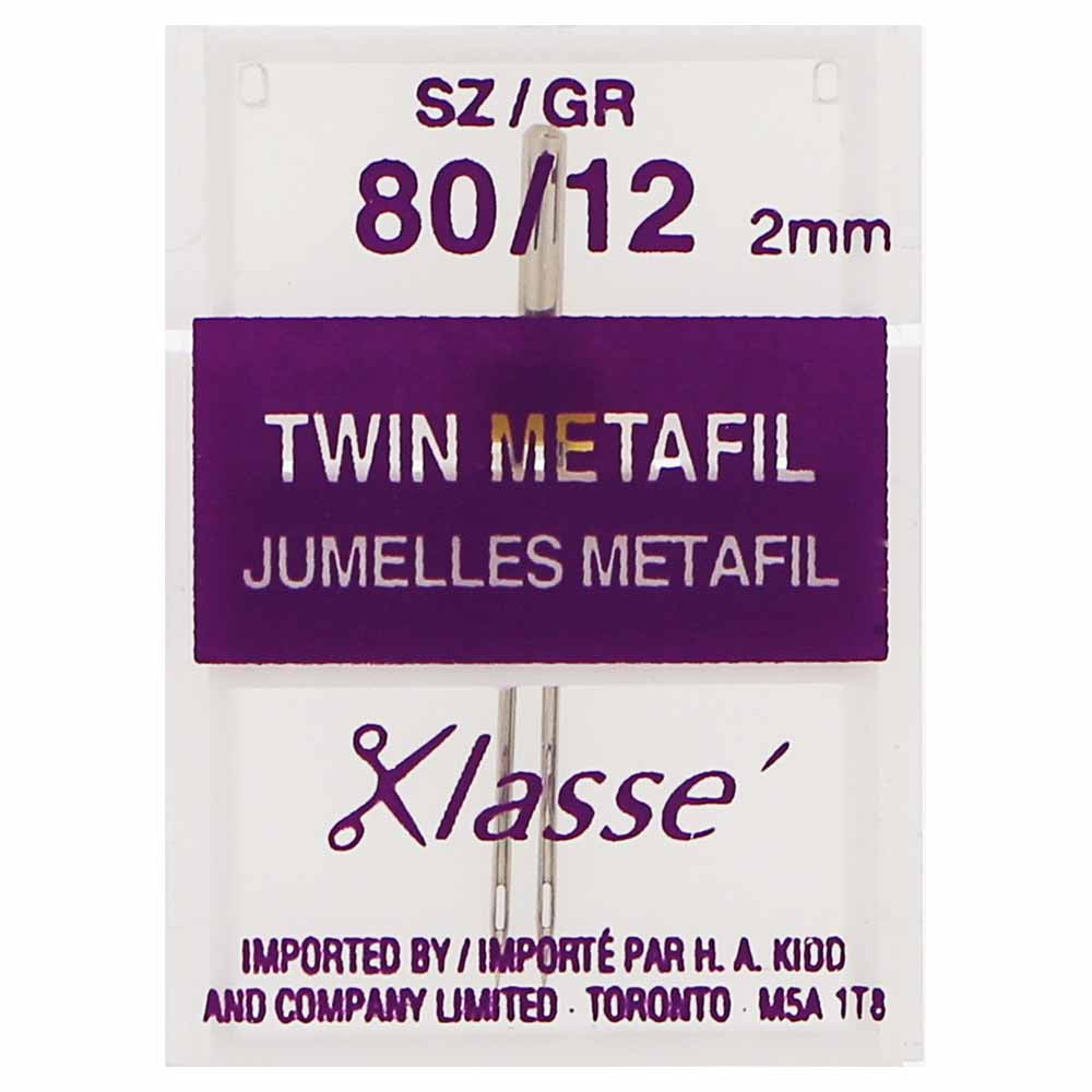 KLASSE´ Twin Metafil Needles - Size 80/12, 2mm