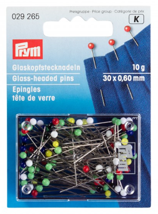 Glass-headed pins