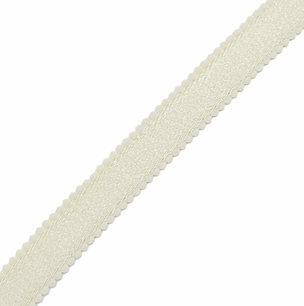 Scalloped Strap Elastic - Off White