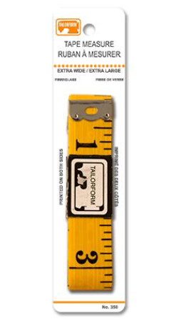 "TAILORFORM Extra Wide Tape Measure (60"" / 150cm)"