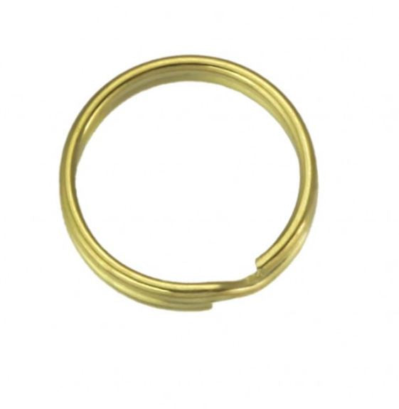 Brass Plated Split Key Ring 24mm