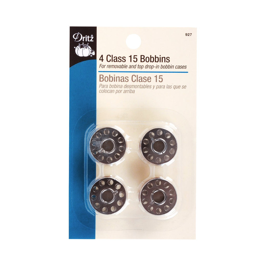 DRITZ Domestic Metal Sewing Machine Bobbins - Class 15