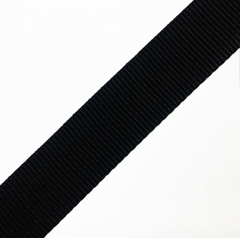 Polypropylene Webbing - Black (By the Yard)
