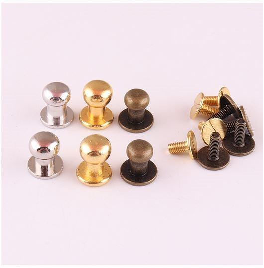 Post Stud Fasteners for Leather (3 sets)