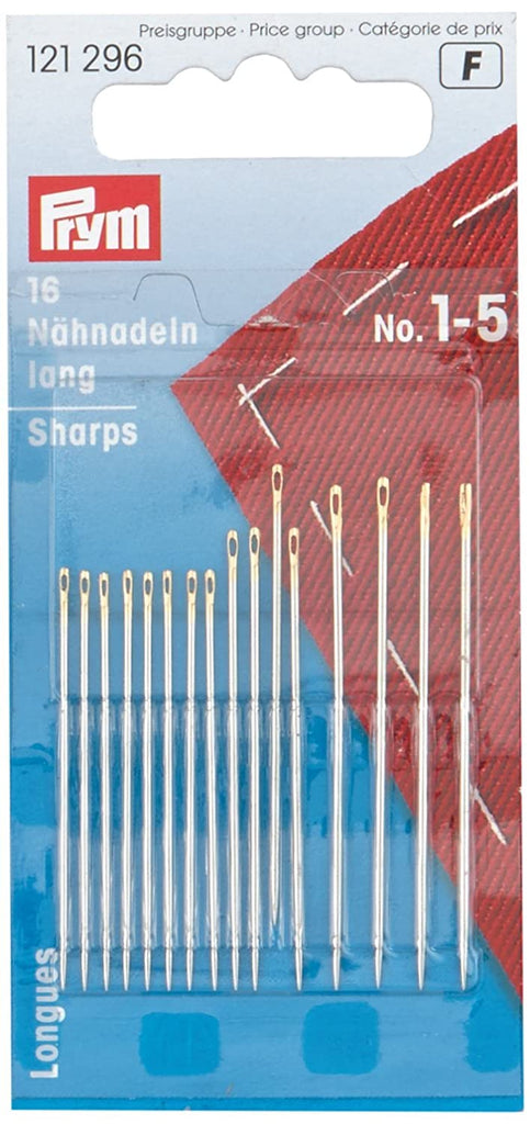 PRYM Hand Sewing Needles - Size 1-5 Sharp
