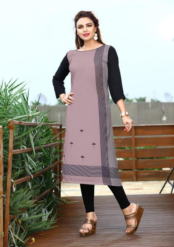 Women's Digital Printed American Crepe Straight Kurti - CRP20