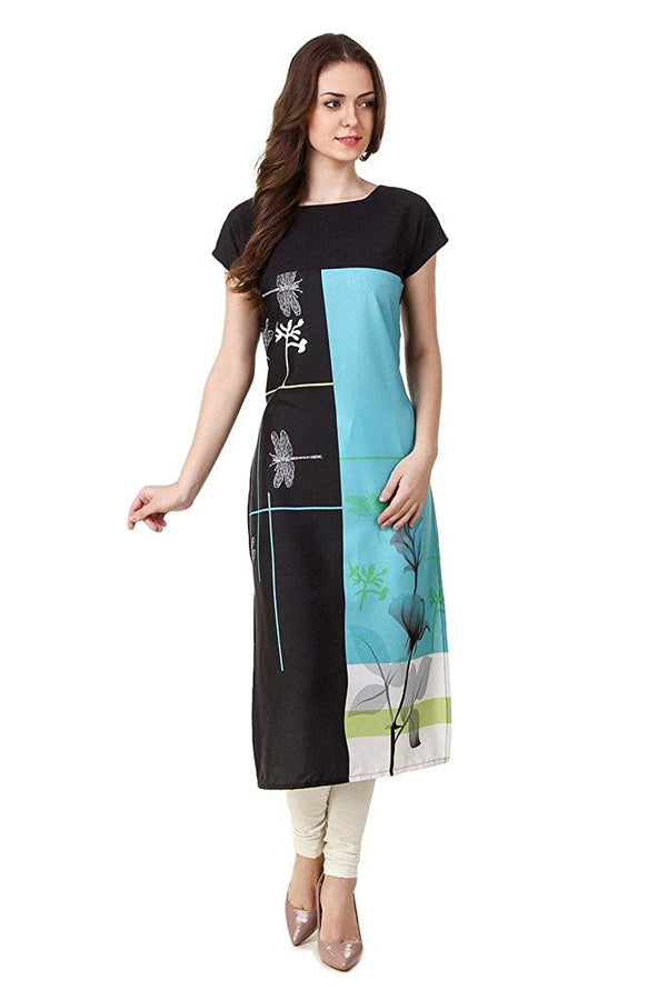 Women's Digital Printed American Crepe Straight Kurti - CRP22