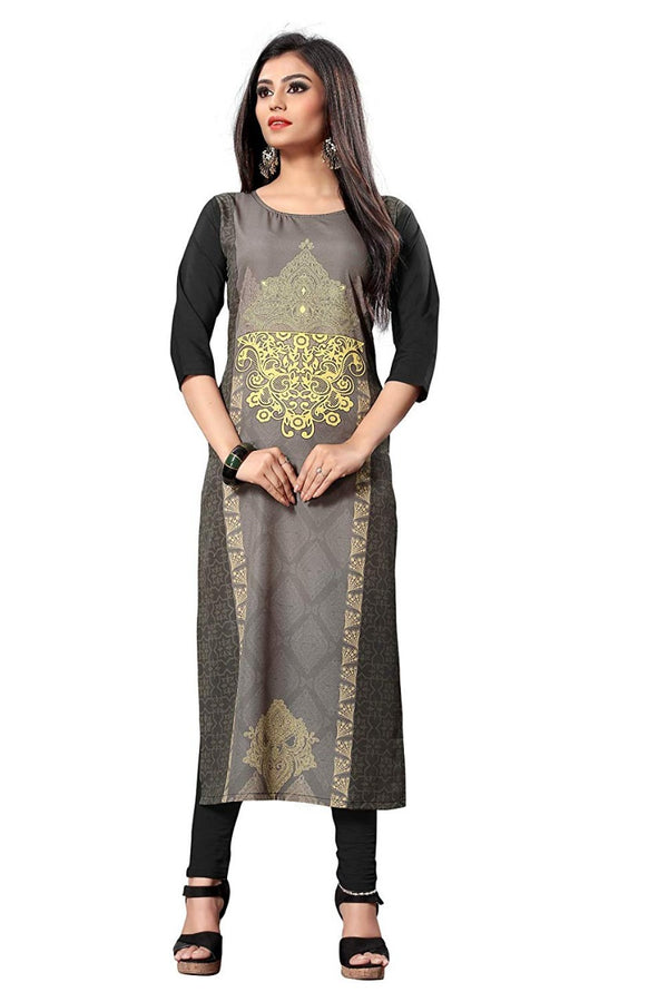 Women's Digital Printed American Crepe Straight Kurti - CRP25