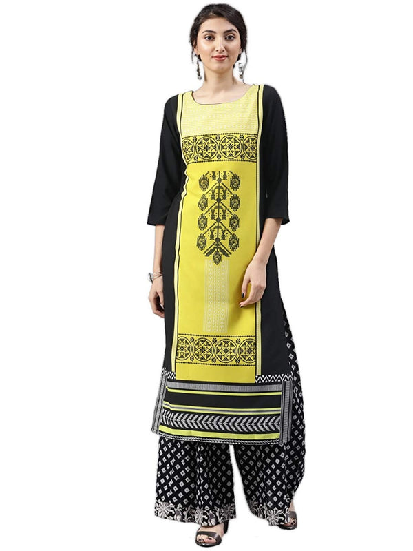 Women's Digital Printed American Crepe Straight Kurti - CRP28
