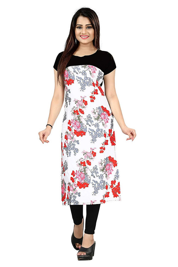 Women's Digital Printed American Crepe Straight Kurti - CRP41