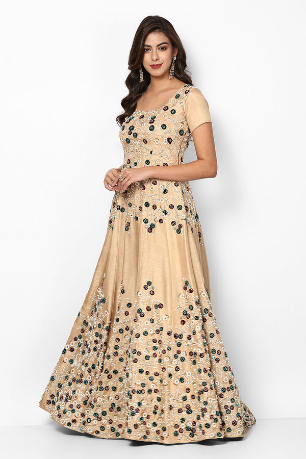 Impressive Banglori Satin Party Wear Anarkali Gown For Women - OG03