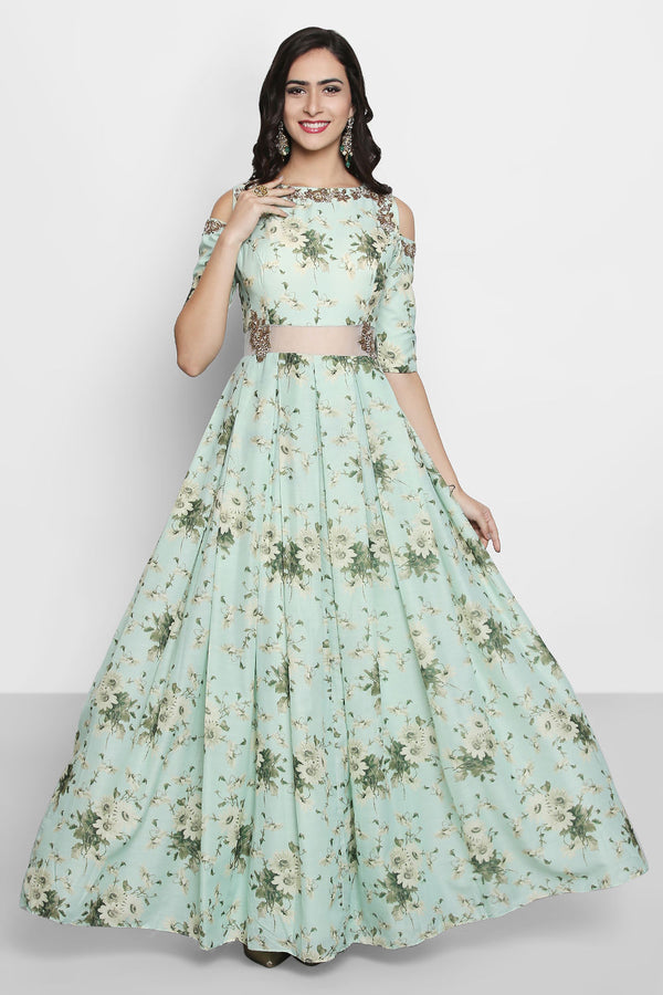 Alluring Designer Party Wear Anarkali Gown For Women - OG06