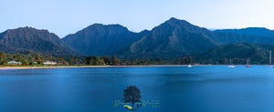 """Hanalei Bay Evening"" Custom size 60"" x 25"" Panorama."