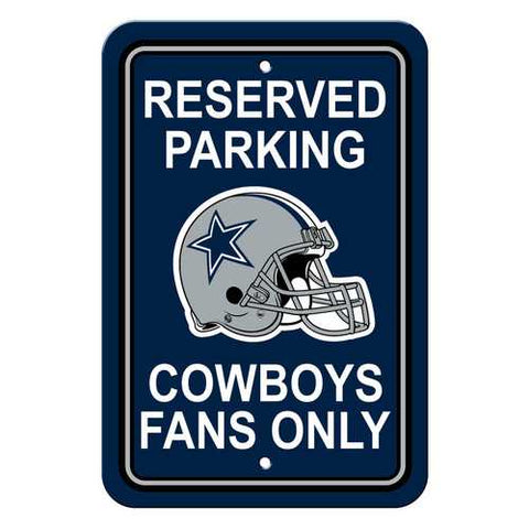 Dallas Cowboys Sign - Plastic - Reserved Parking - 12 in x 18 in