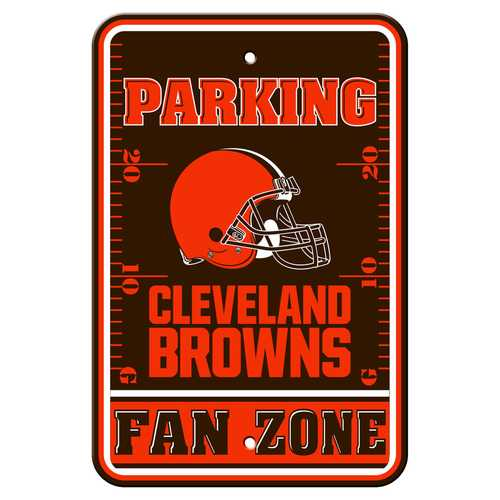 Cleveland Browns Sign 12x18 Plastic Fan Zone Parking Style Special Order