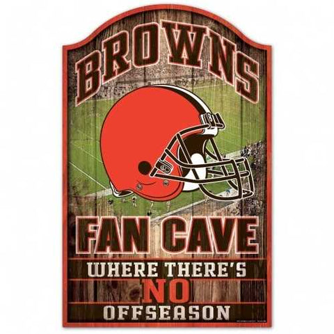 Cleveland Browns Sign 11x17 Wood Fan Cave Design