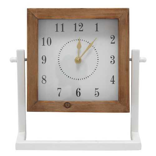 Gavin Square Wood and Metal   Tabletop Clock