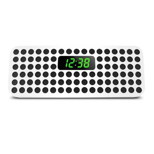 Philips Bluetooth Wireless Speaker with Clock Display, White ()